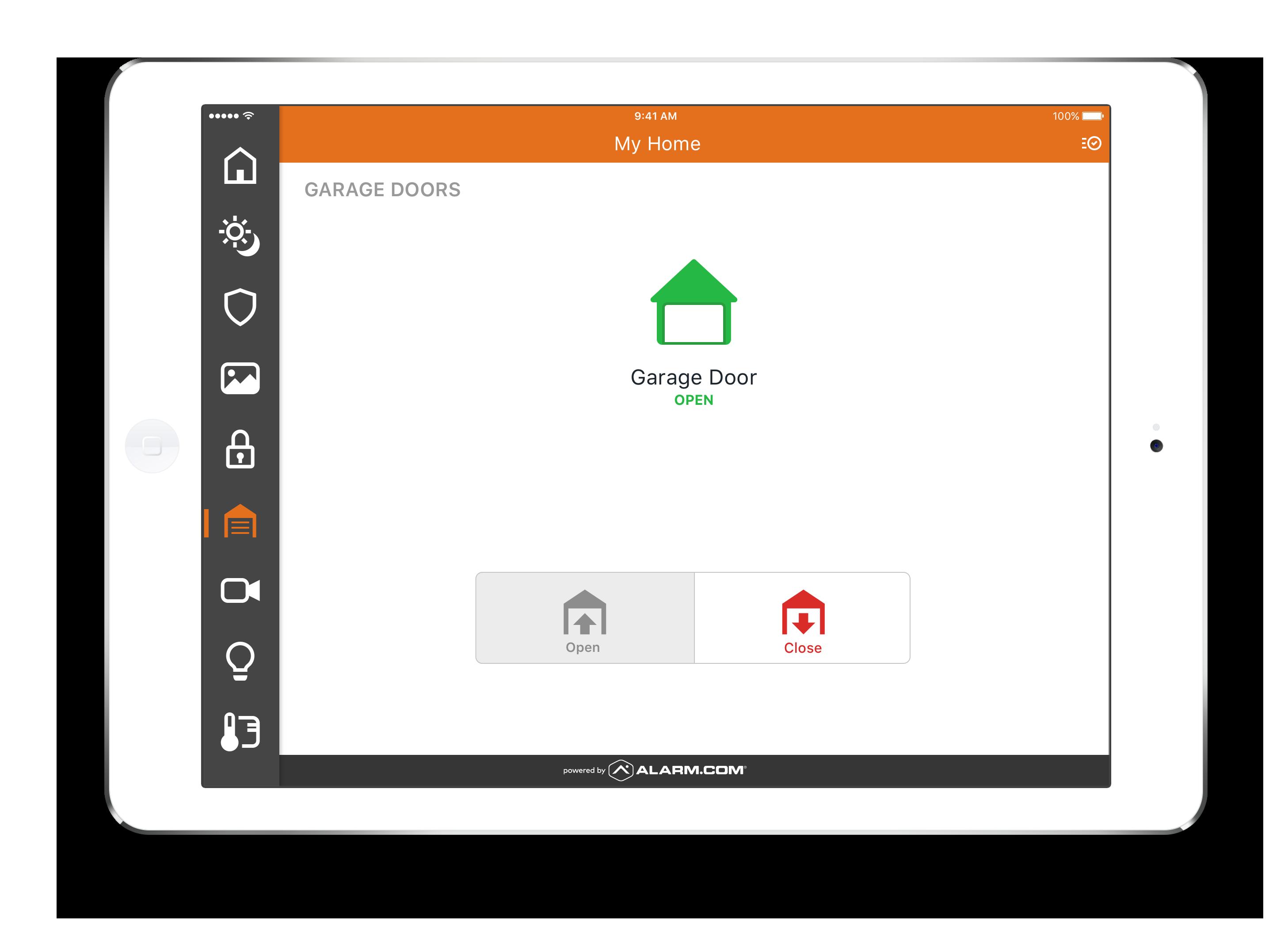 app controlled garage door